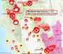 California Fire Activity Map September 1 2021