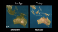 Ice age sea level versus today