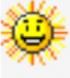 Sunny happy face