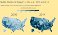 Motality rate differsnces 2000 versus 2014