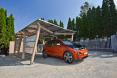 BMW EV charging carport
