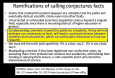 Ramifications of Calling Conjectures Facts