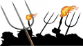 Pitchfork and torches mob