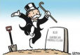 American Social Darwinist Oligarchs dance on the grave of the American Middle Class