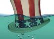 Unlcle Sam Hat under water
