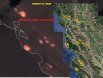 California Wildfires from Space August 19 2020