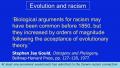 Belief in Evolution Exacerbates Racism